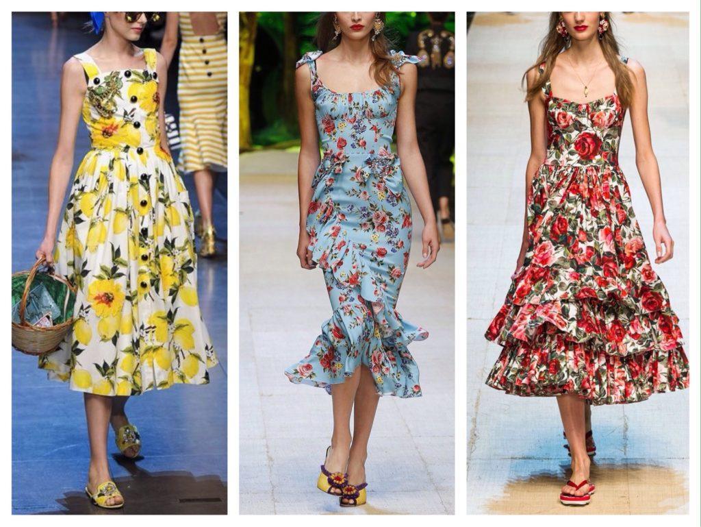 сарафаны с показов Dolce Gabbana