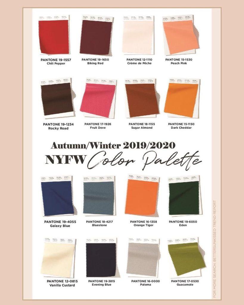 модные цвета 2019 2020