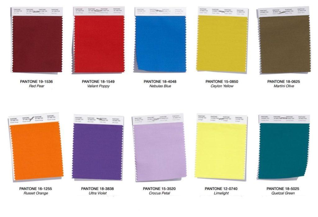 Цвета 2018 по версии института цвета Panton