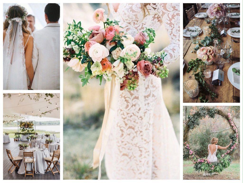декор и украшения свадьбы в стиле бохо