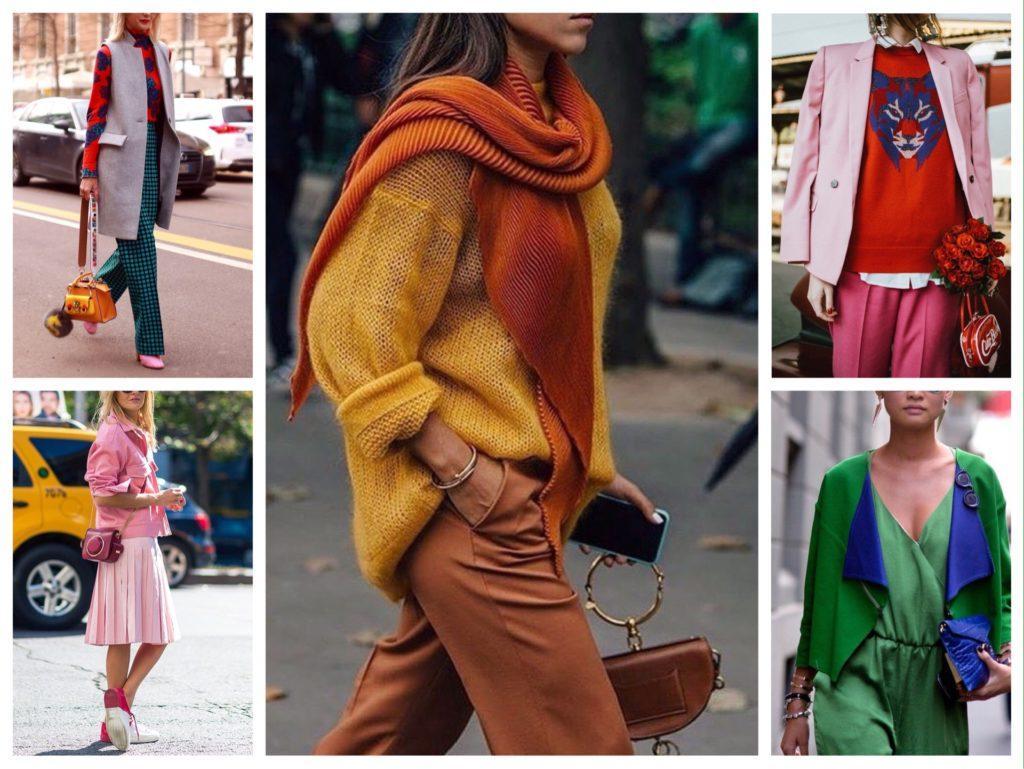 комбинируем цвет в комплектах одежды