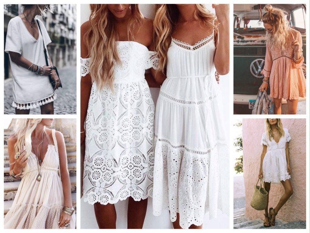 летние образы платье бохо