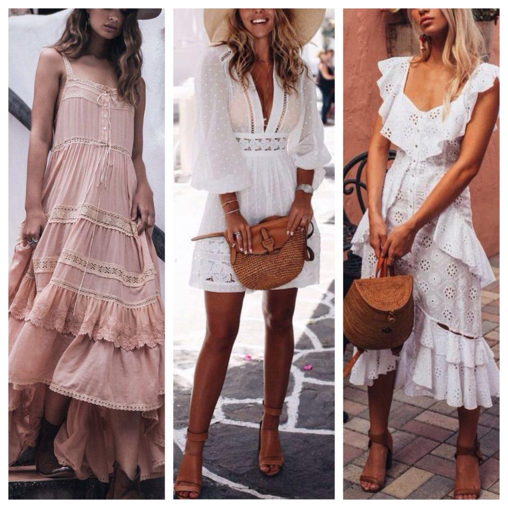 летние платья в стиле бохо