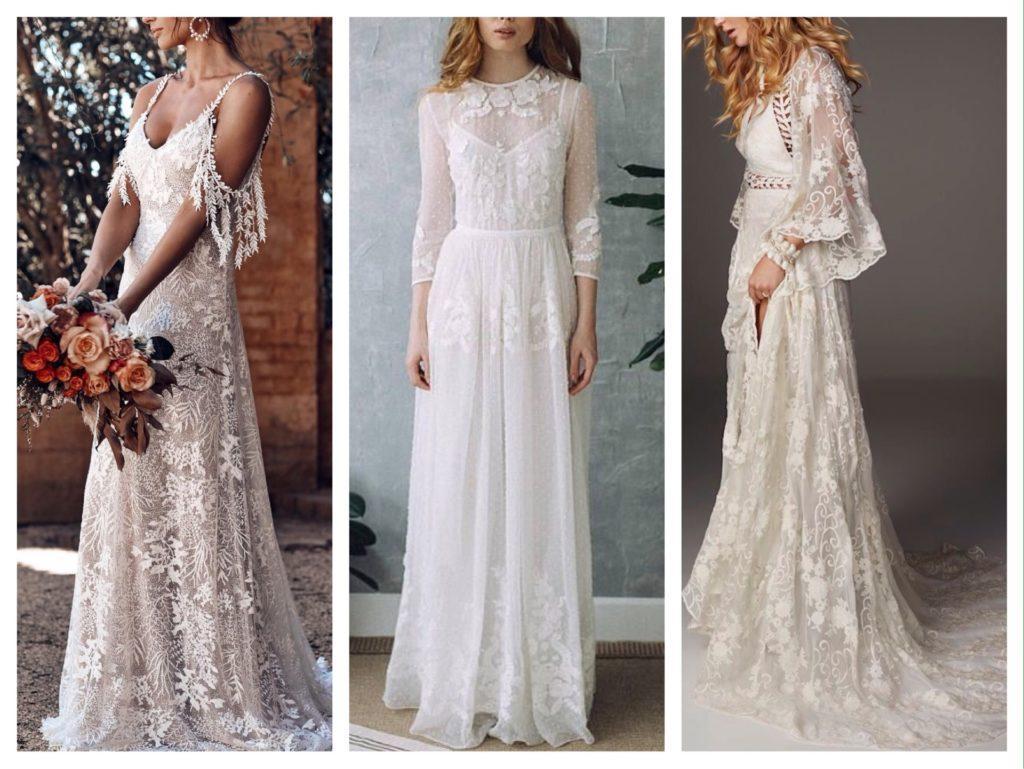 наряды для свадьбы в стиле бохо