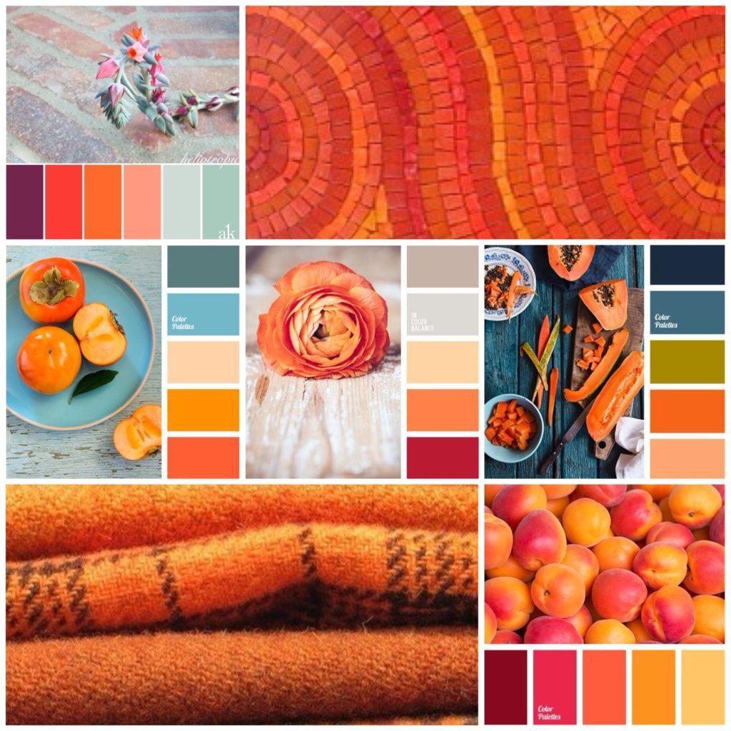 сочетания с оранжевым цветом
