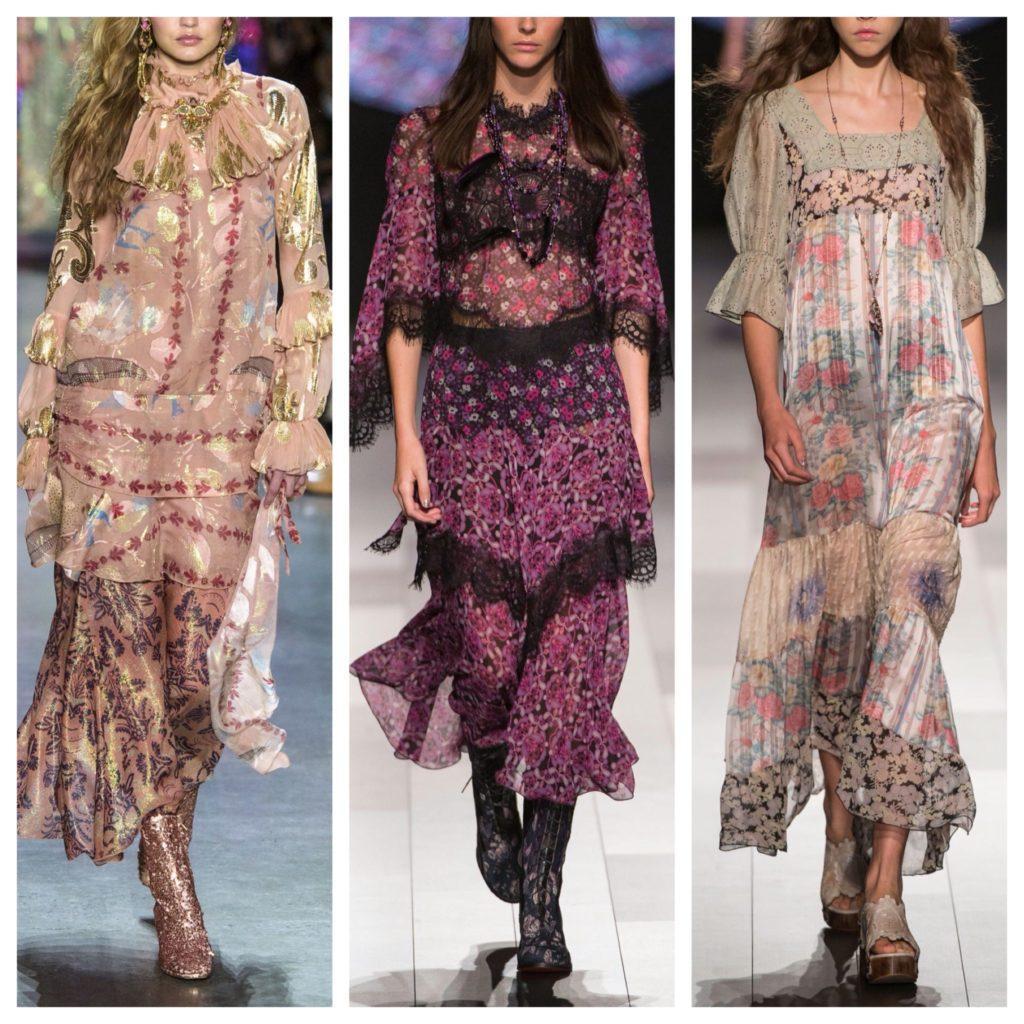 платья бохо шик с модных коллекций
