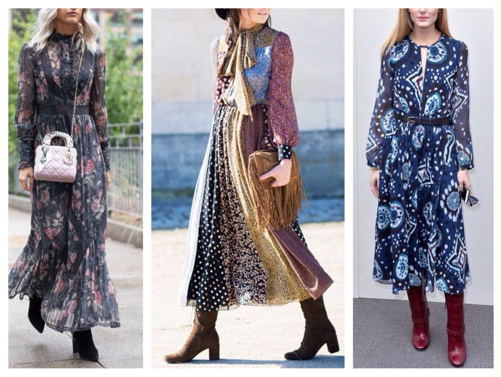 сапоги и платье