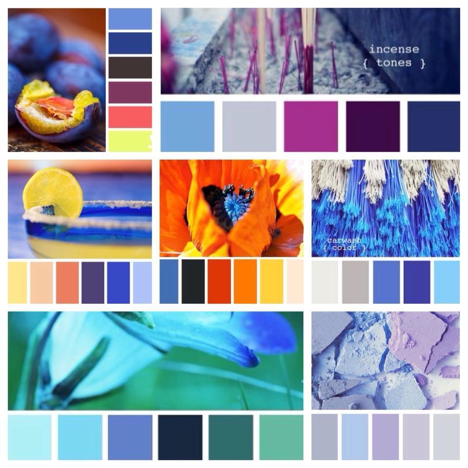 сочетания с голубым цветом
