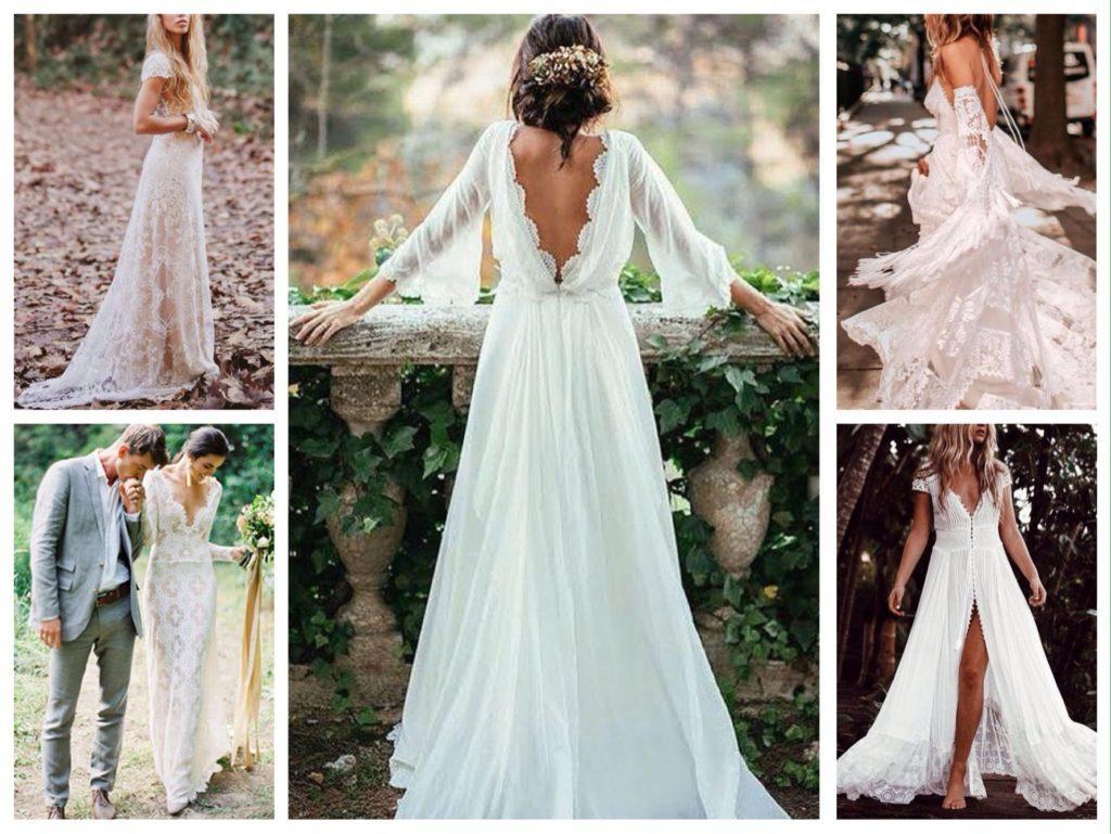 свадебное платье бохо шик