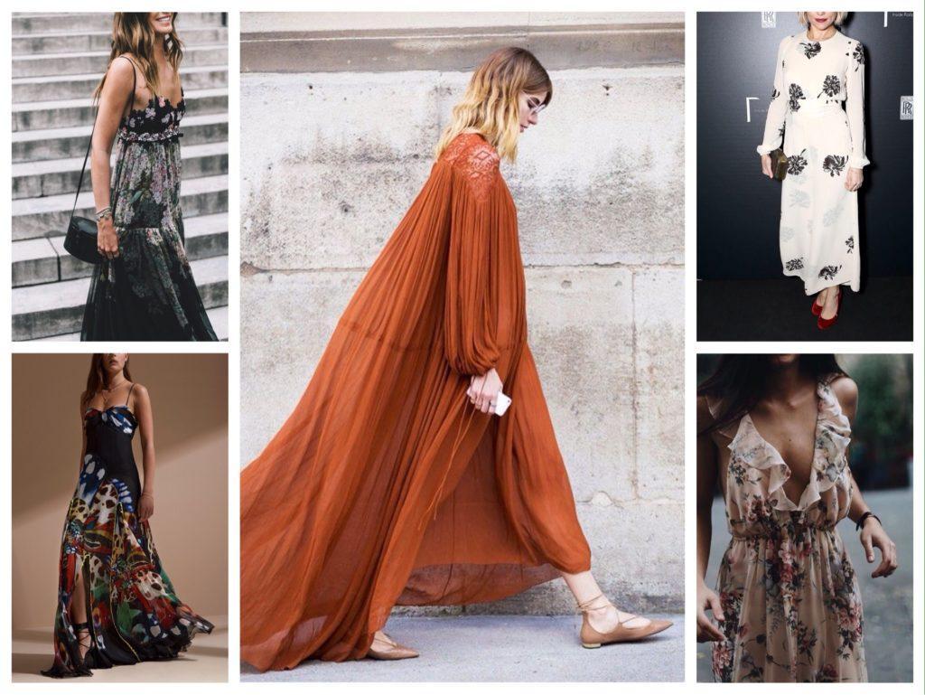 вечерние модели платьев бохо