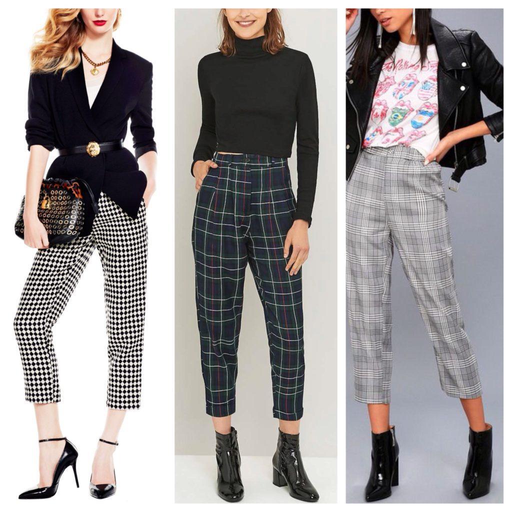 укороченные модели брюк
