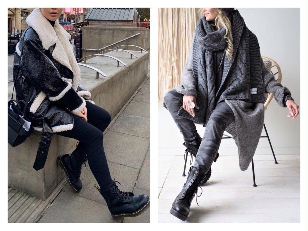 грубые ботинки зимой