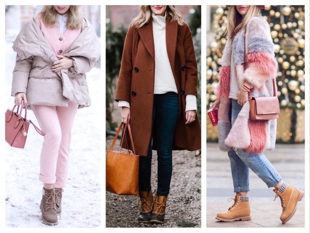 с чем носить женские ботинки зимой фото