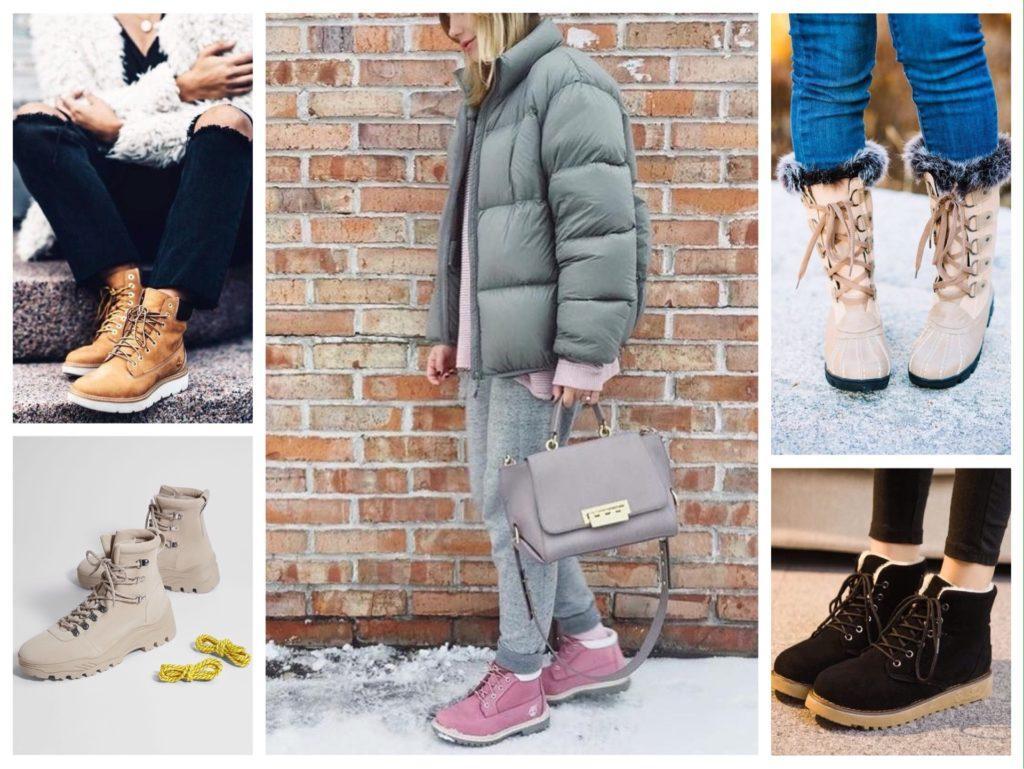 теплые женские зимние ботинки фото
