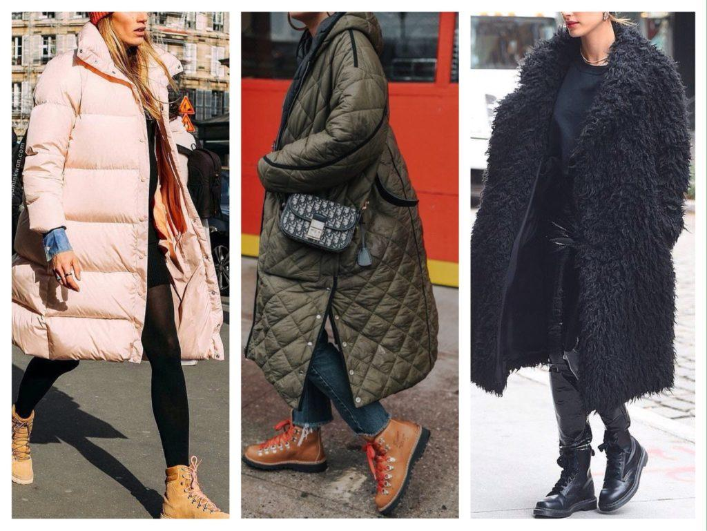 верхняя одежда к теплым ботинкам