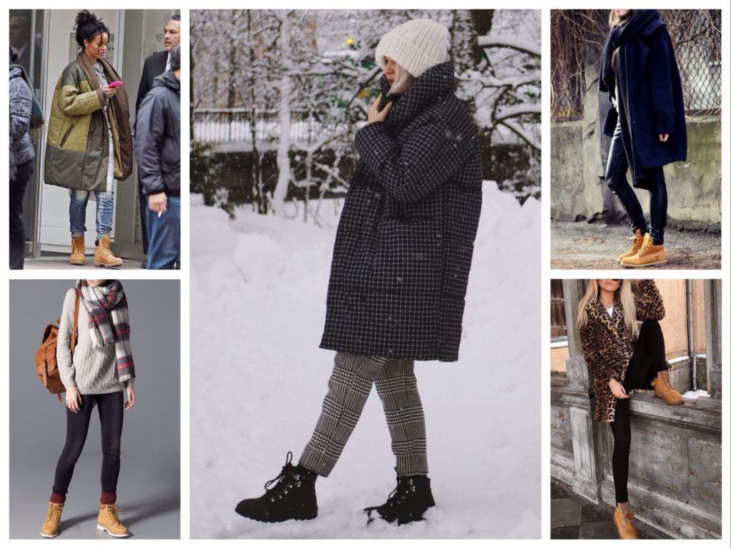 женские комплекты с зимними ботинками