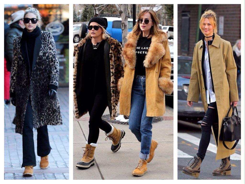 зимние ботинки в городских образах