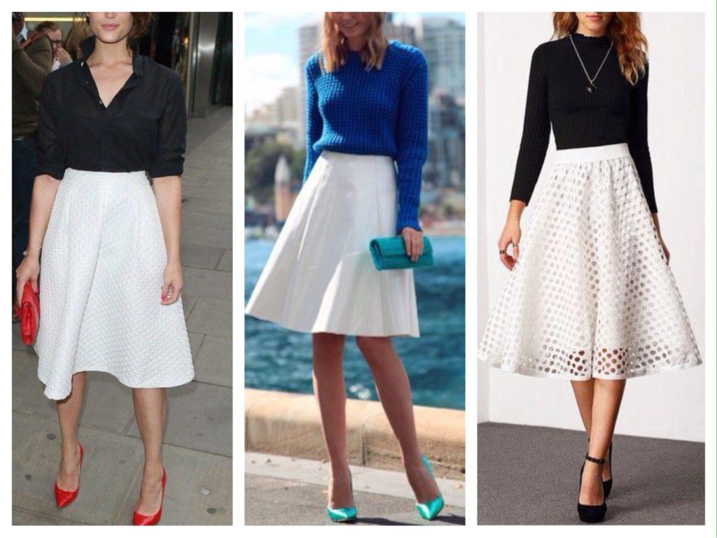 белая юбка солнце