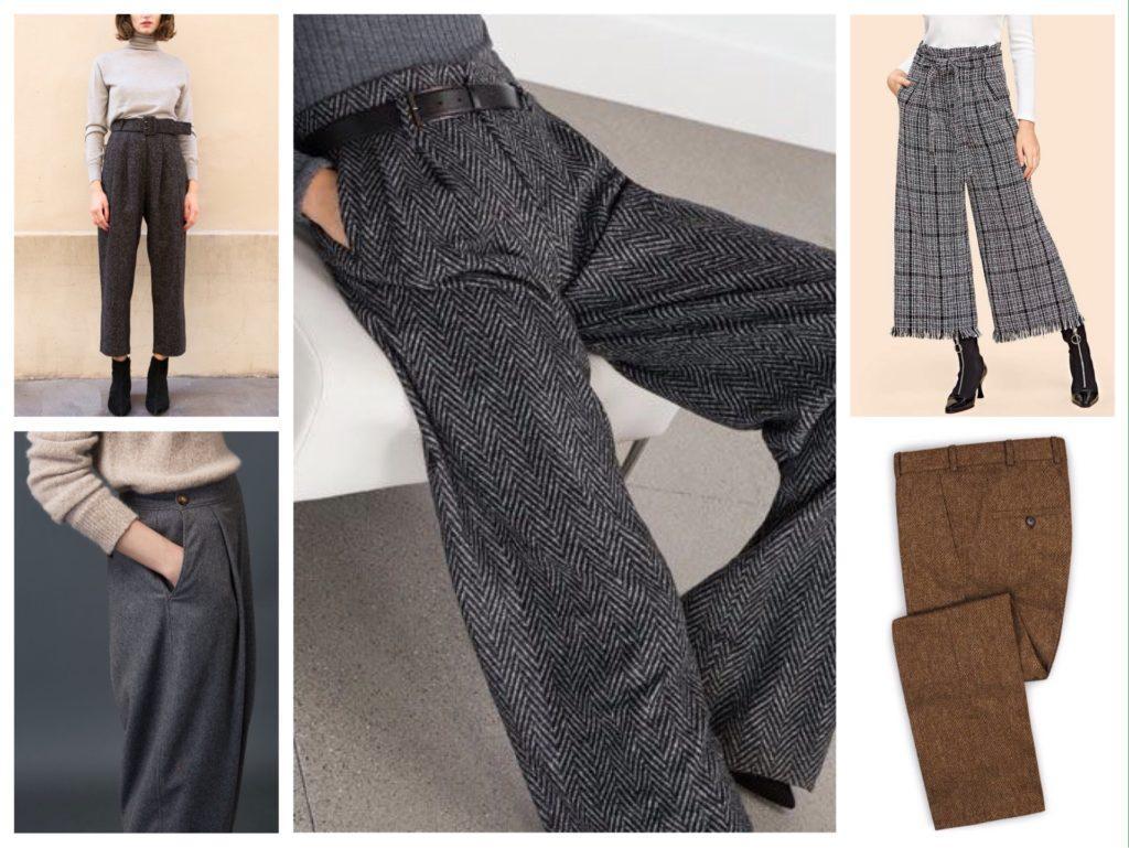 брюки из твида