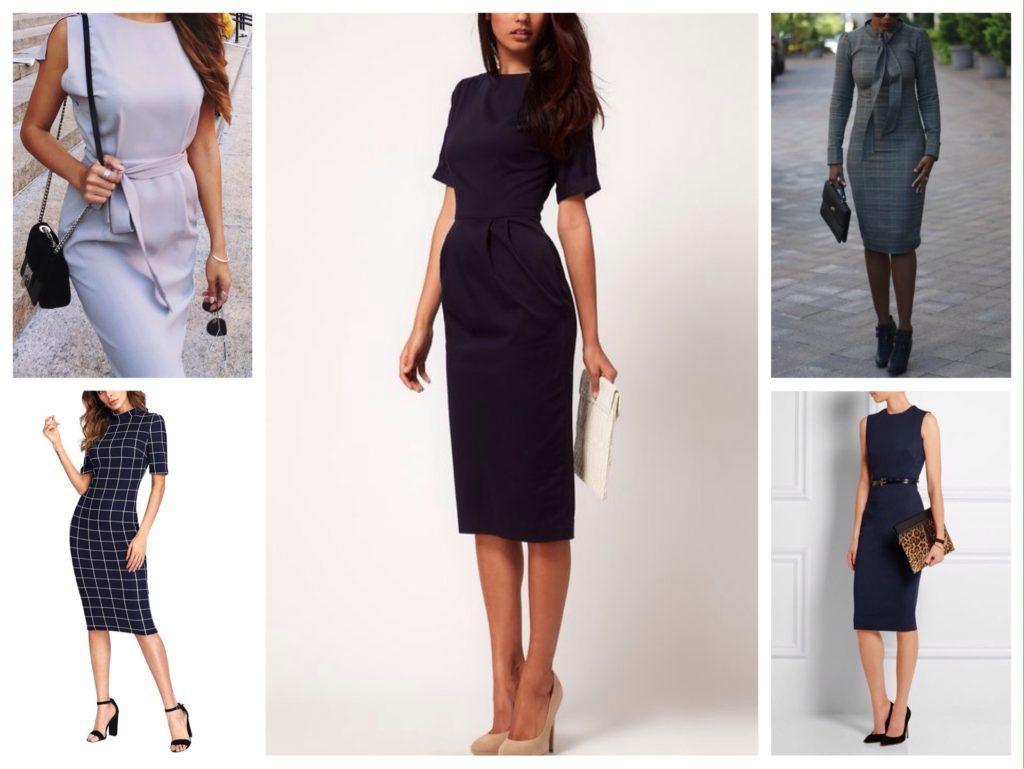 деловые образы платье