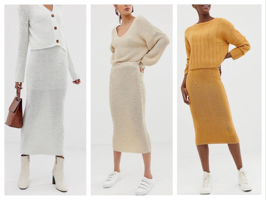 комплекты с трикотажными юбками