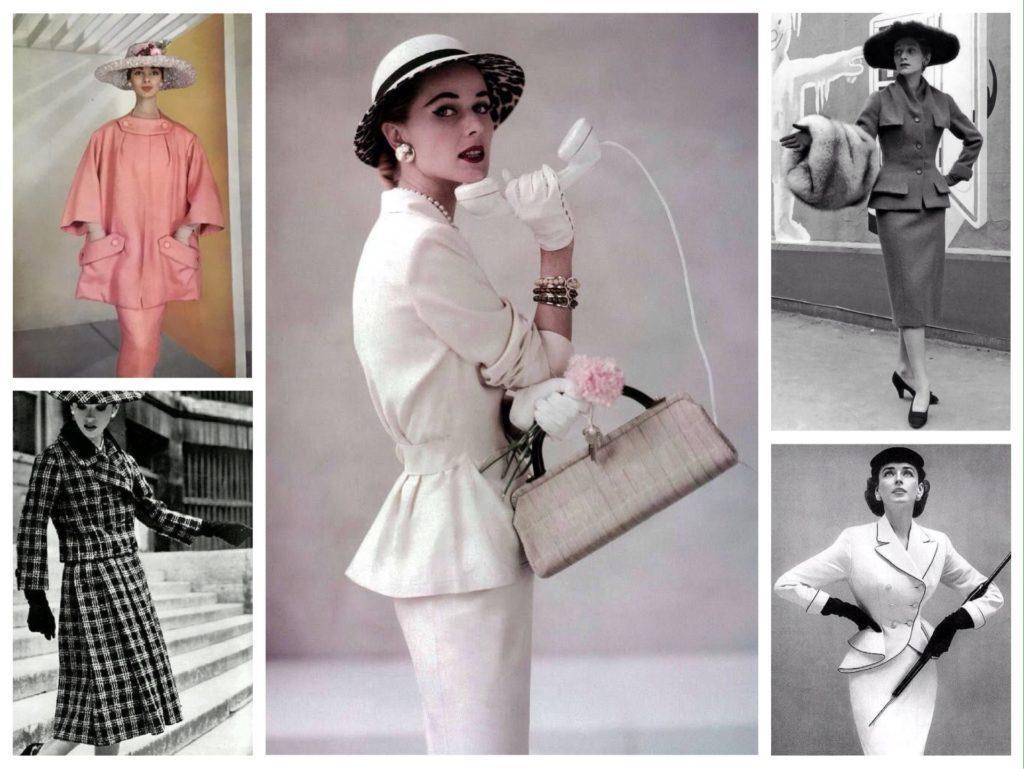 костюмы от DIOR 50е годы
