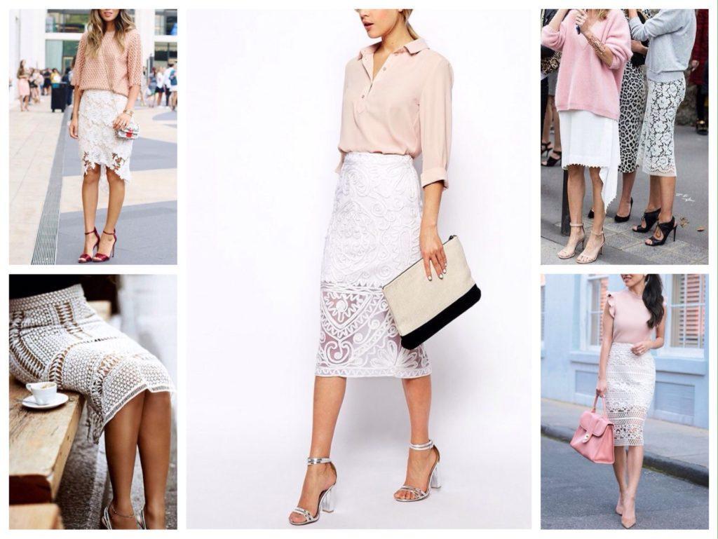 кружевная белая юбка