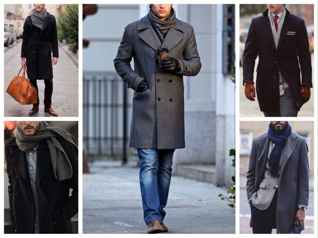 мужской шарф с пальто