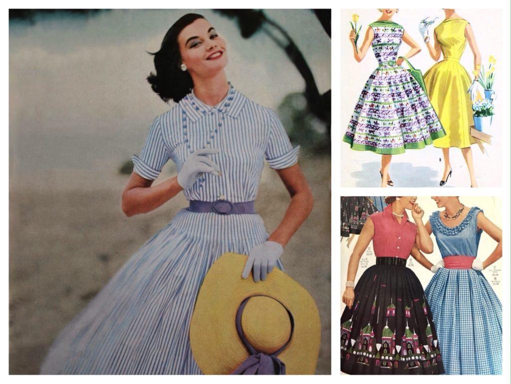 платье в стиле 50х годов