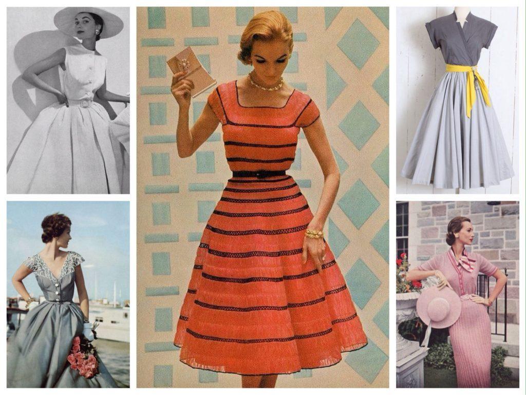 платья в стиле 50х годов