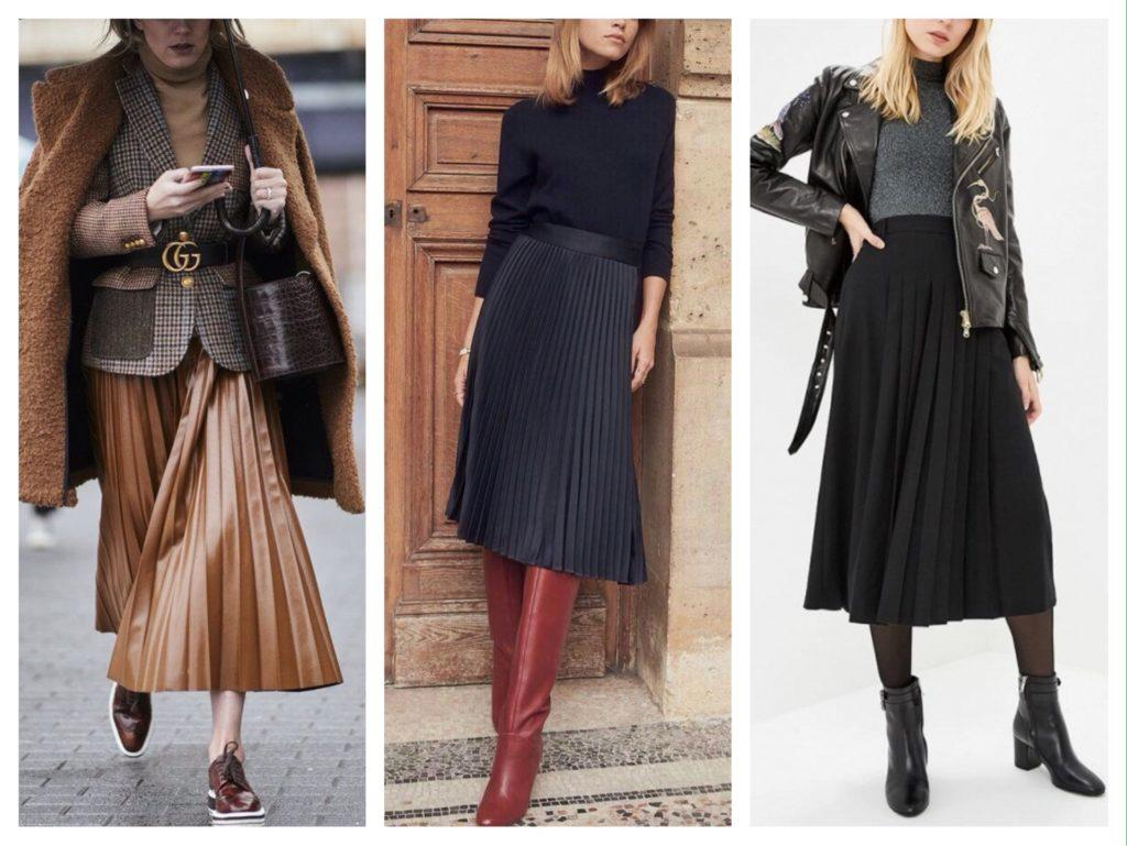 плиссированная юбка зимний комплект