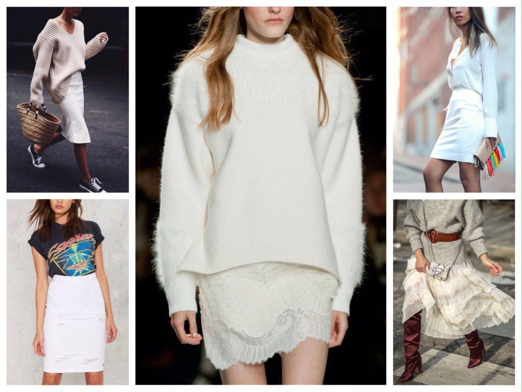 6089fad8936 Белая юбка - идеи с чем носить в различной длине и фасонах (фото)
