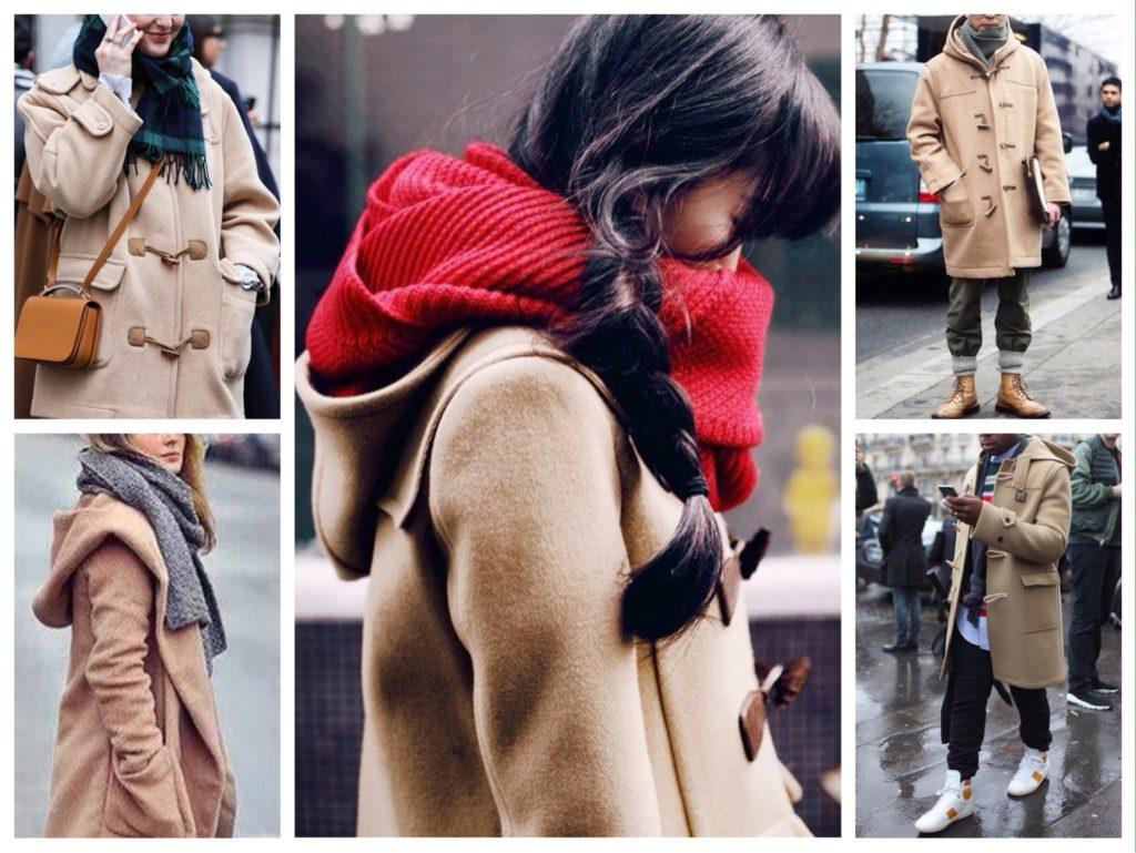 шарф и пальто с капюшоном