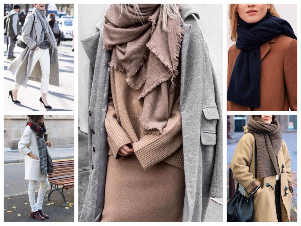 варианты повязывания шарфа