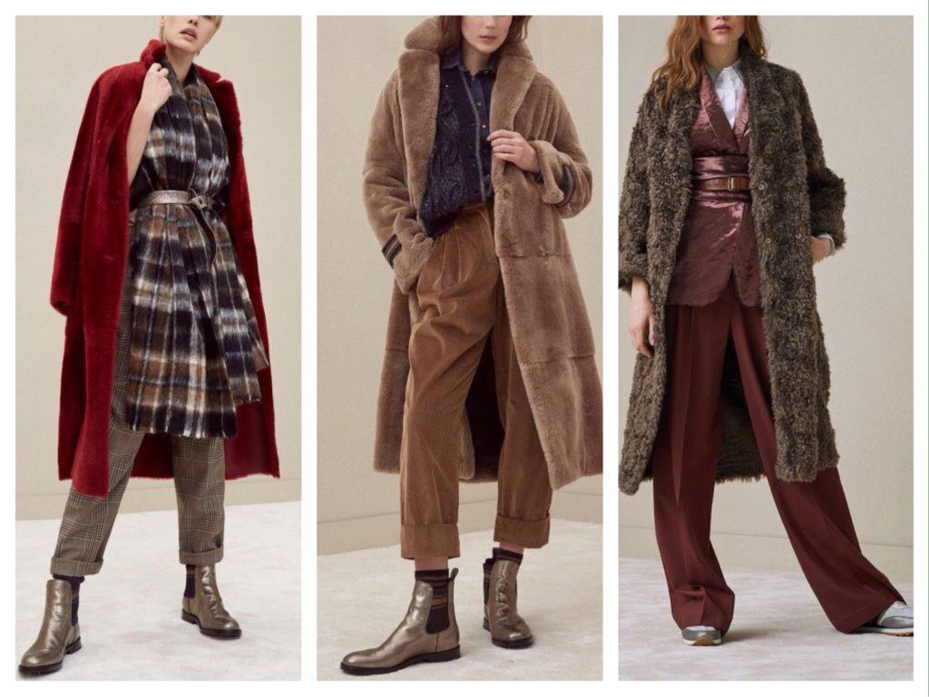 варианты зимних образов с брюками