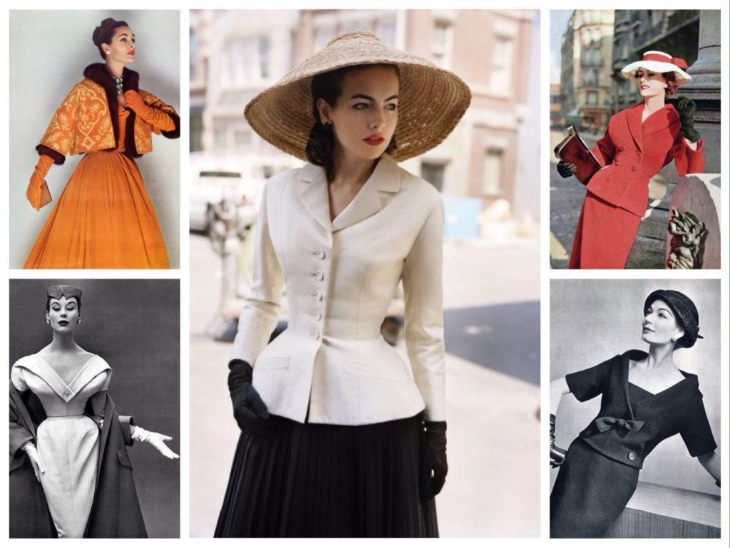 женственные образы Dior 50е