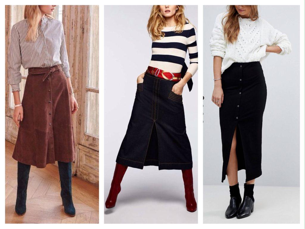 зимние комплекты с юбками