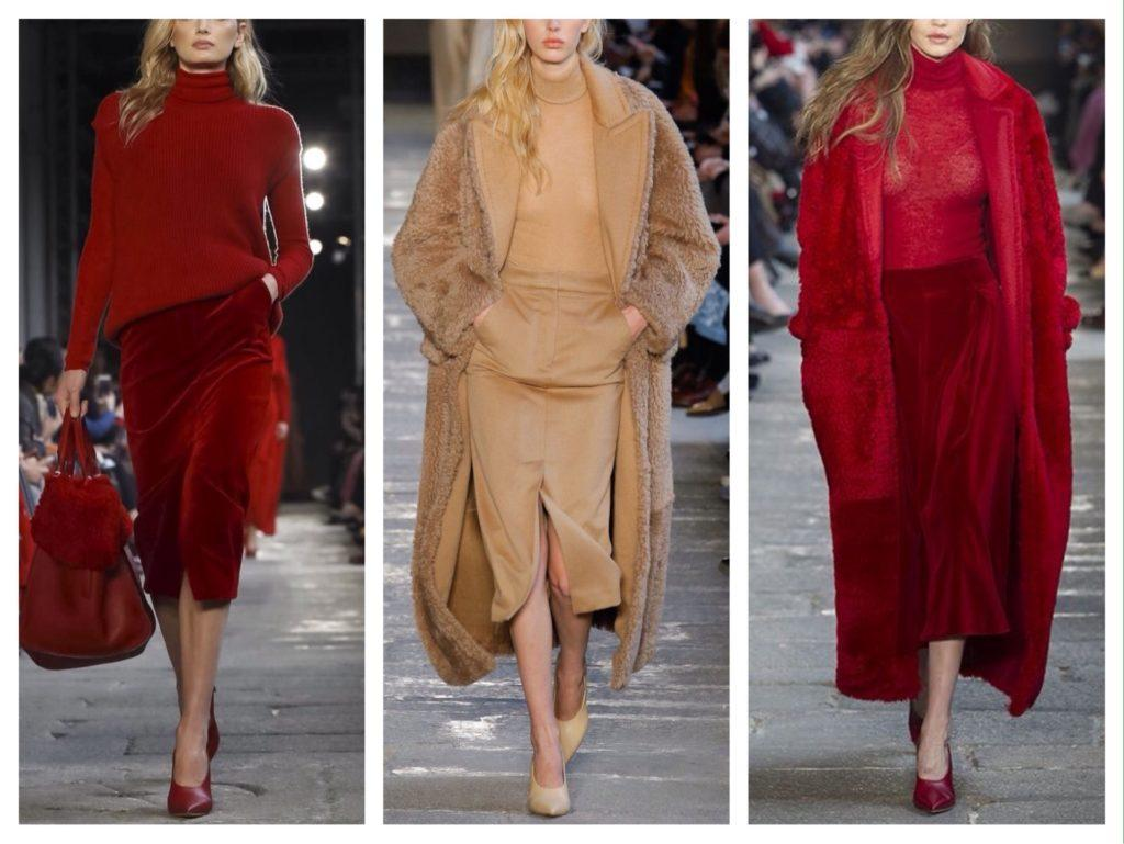 зимние образы с юбками от Max Mara