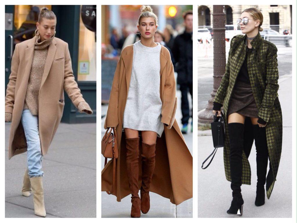 Хейли Болдуин образы в пальто