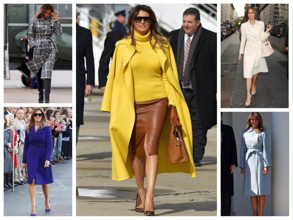 Мелани Трамп образы в пальто