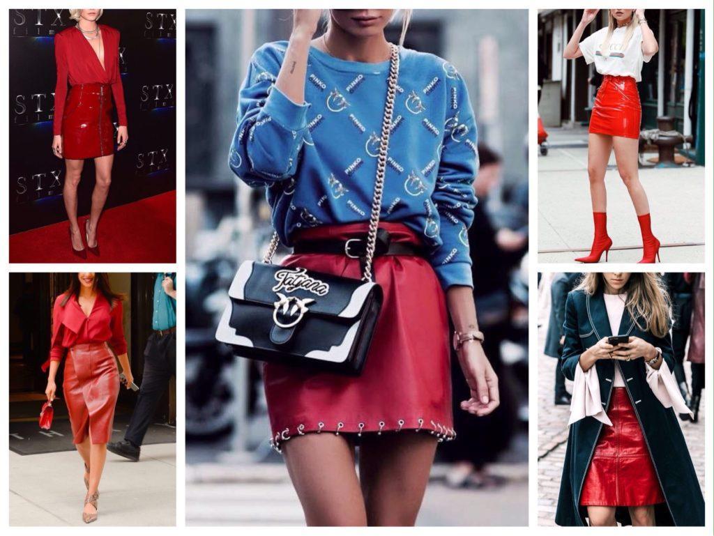 кожаные юбки фото