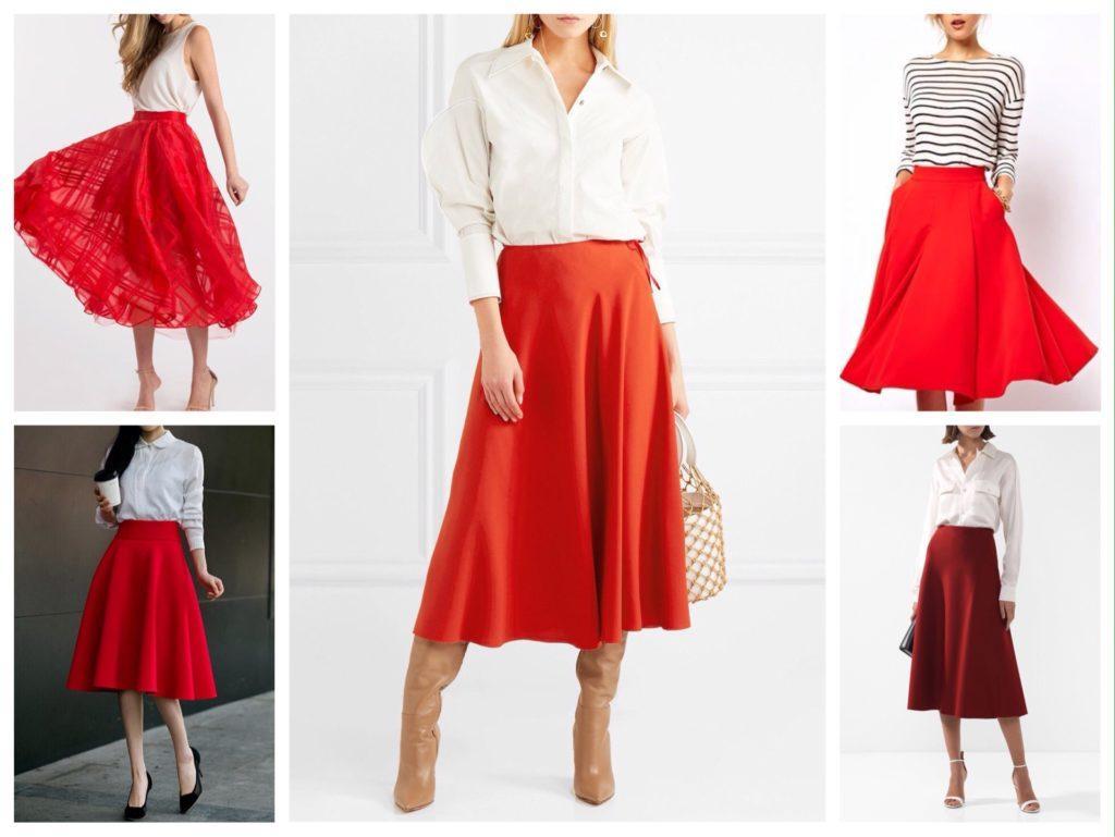 красная юбка солнце фото