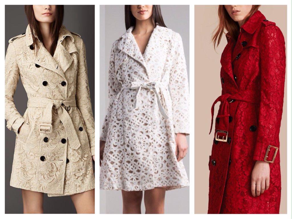 кружевные модели пальто