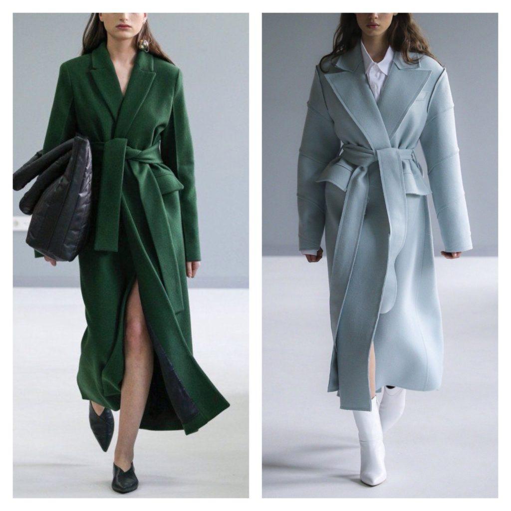 модели пальто халат
