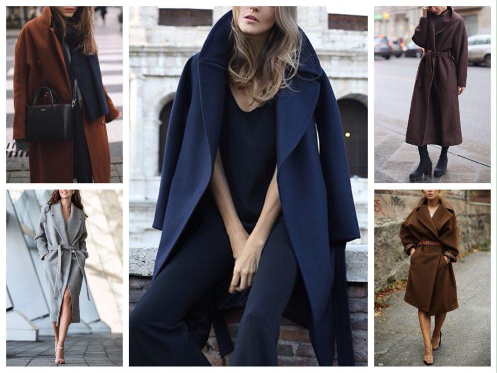 модели пальто-халат фото
