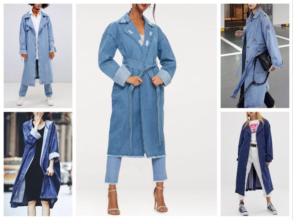 пальто халат джинсовое