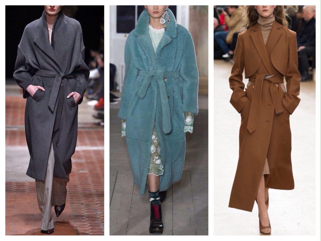 пальто халат подиум