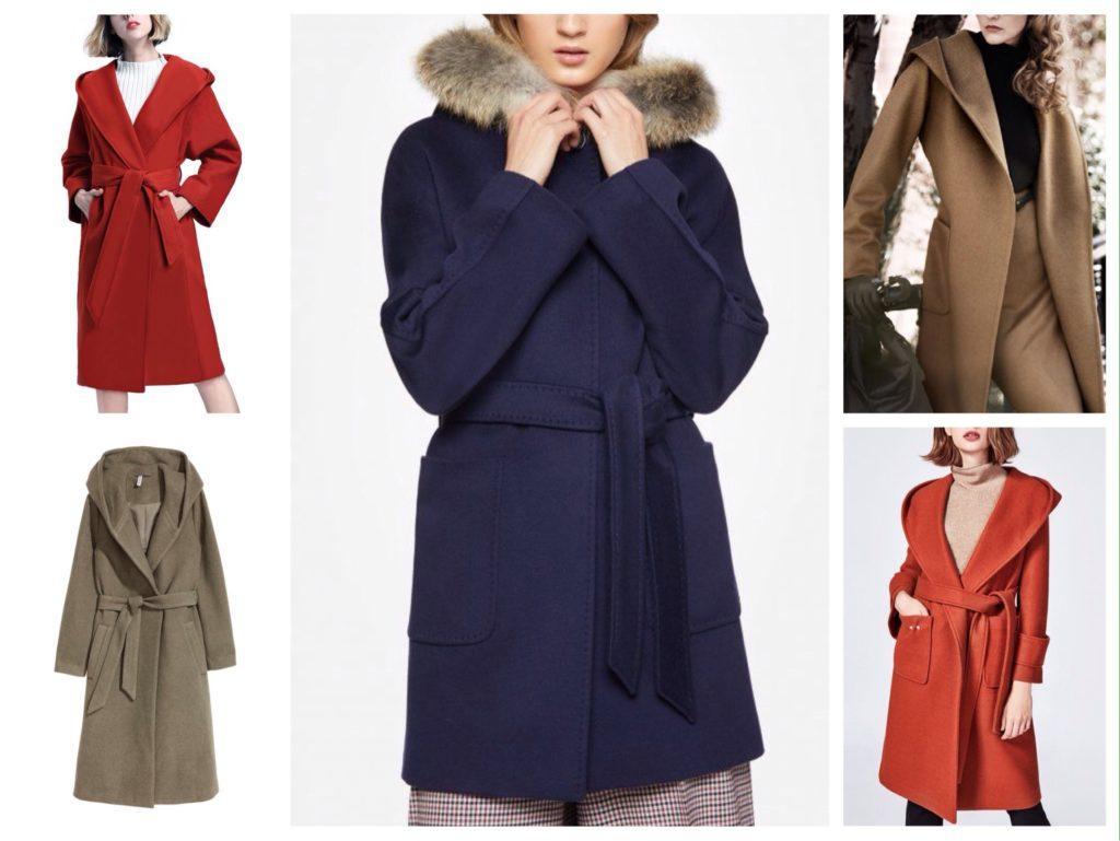 пальто халат с капюшоном фото