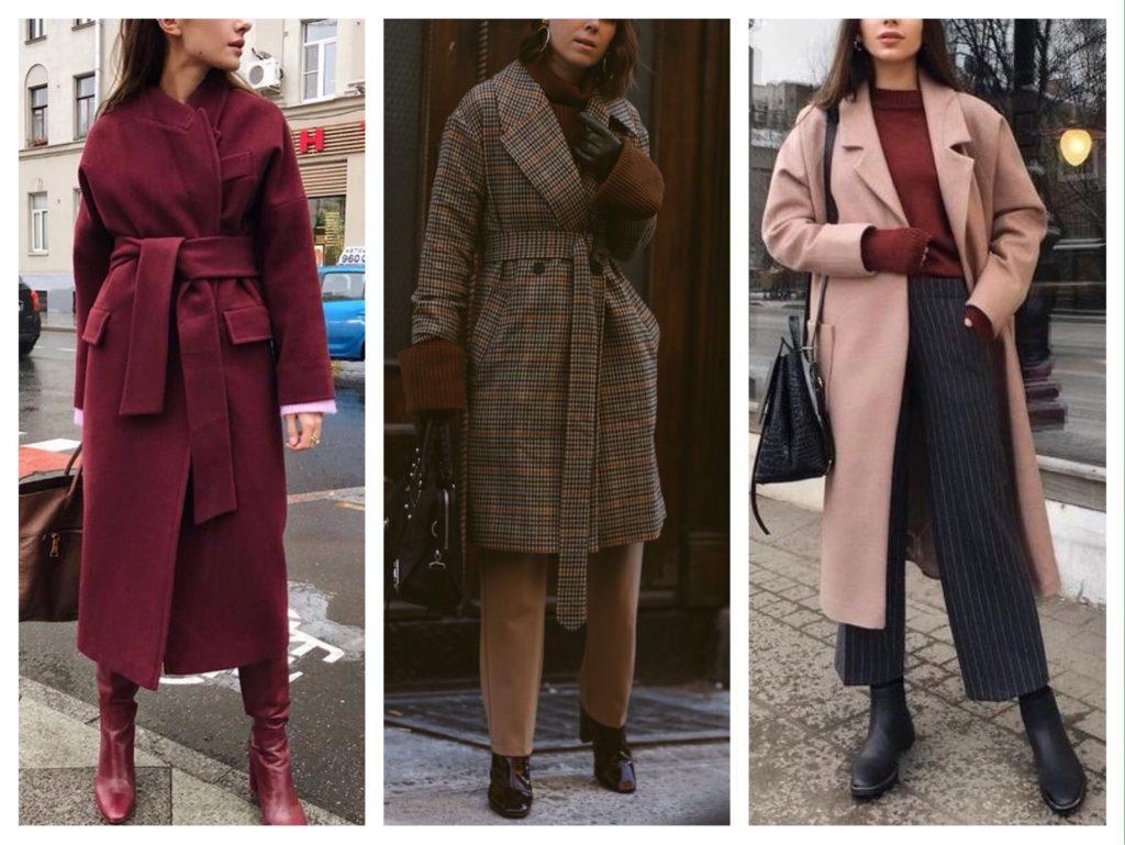пальто халат зимние образы