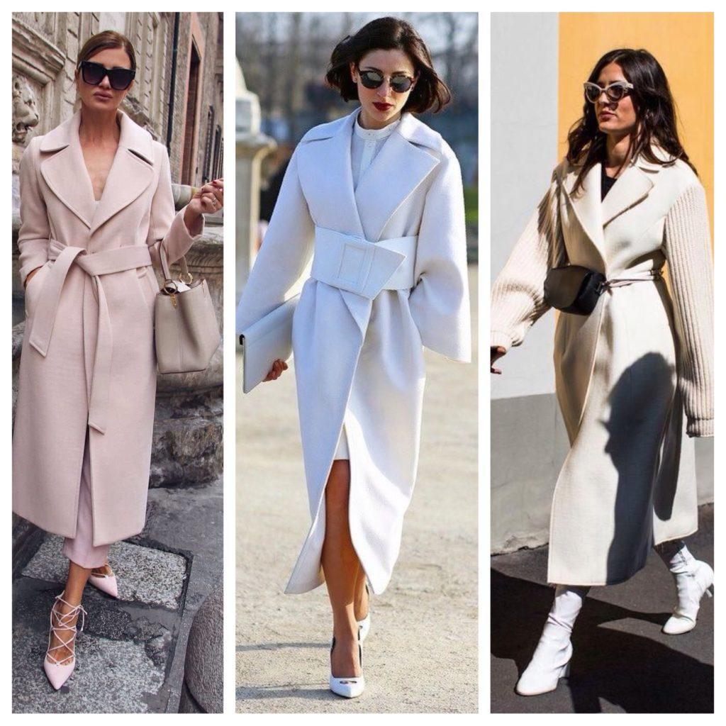 пальто в светлых оттенках